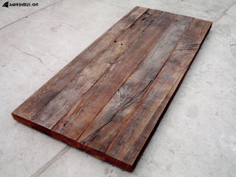 blat ze starego drewna dębowego z odzysku