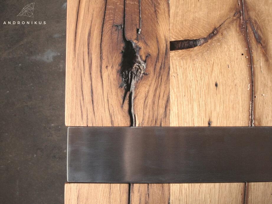 stół dąb nogi zlicowane z blatem